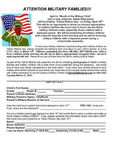 YRD to Military Families 2015